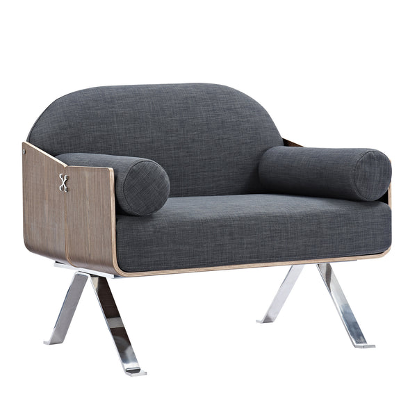Charcoal Gray Jorn Chair - Walnut