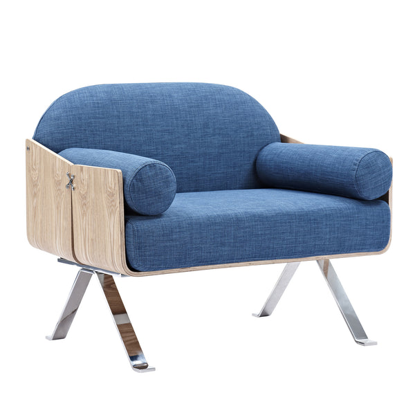 Dodger Blue Jorn Chair - Natural