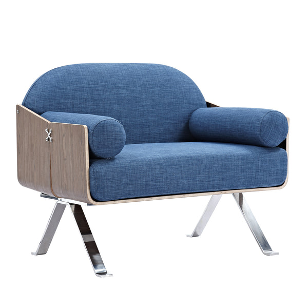 Dodger Blue Jorn Chair - Walnut