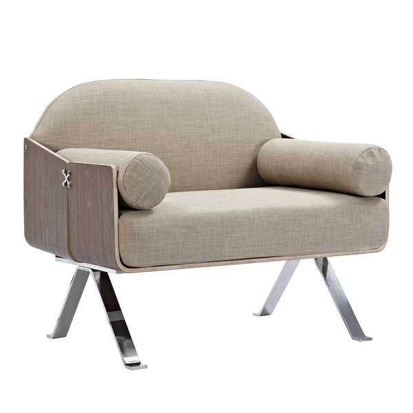 Oatmeal Gray Jorn Chair - Walnut