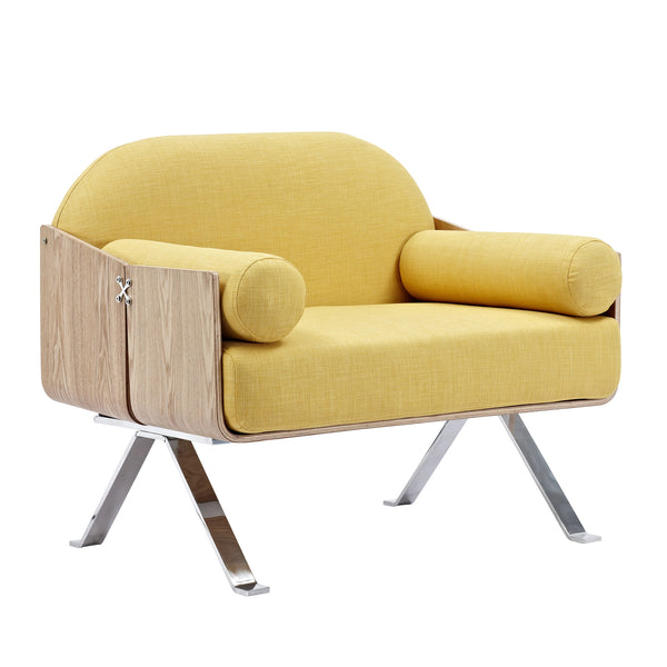 Papaya Yellow Jorn Chair - Natural