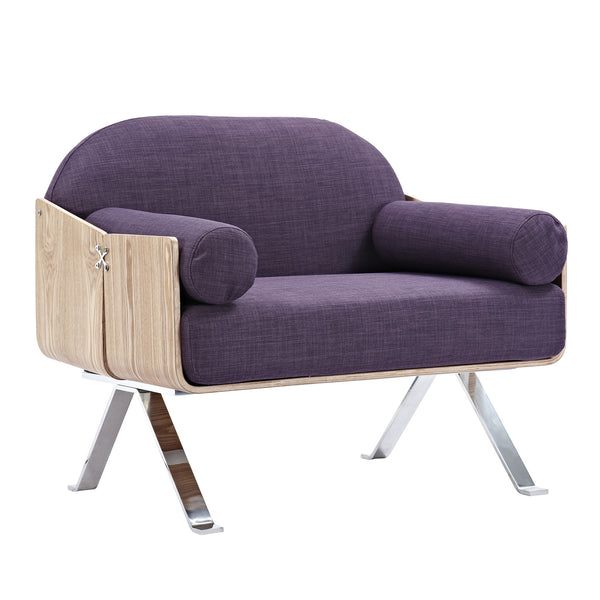 Plum Purple Jorn Chair - Natural