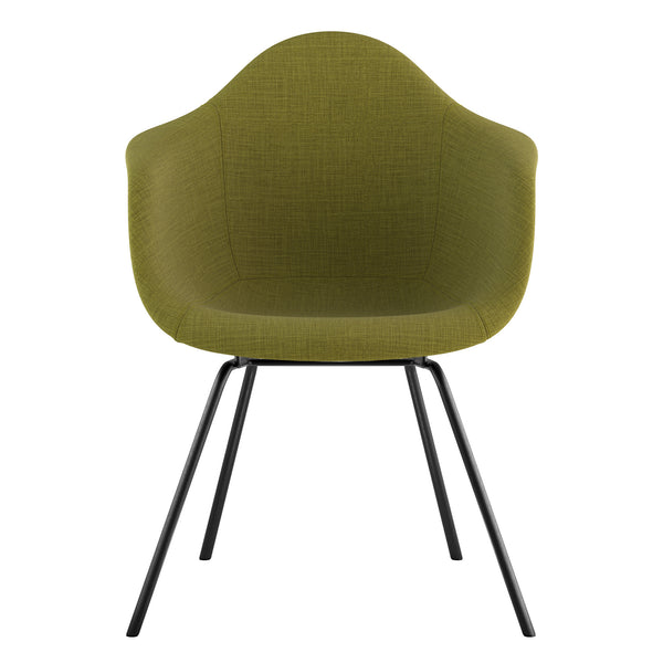 Mid Century Classroom Arm Chair - Avocado GreenGunmetal