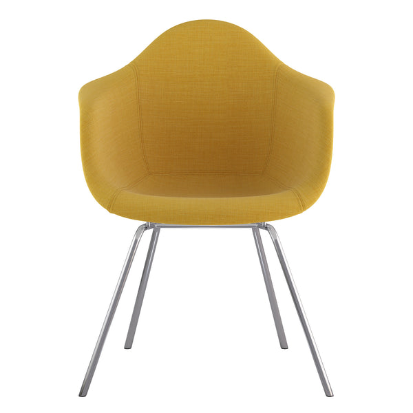 Mid Century Classroom Arm Chair - Papaya YellowNickel