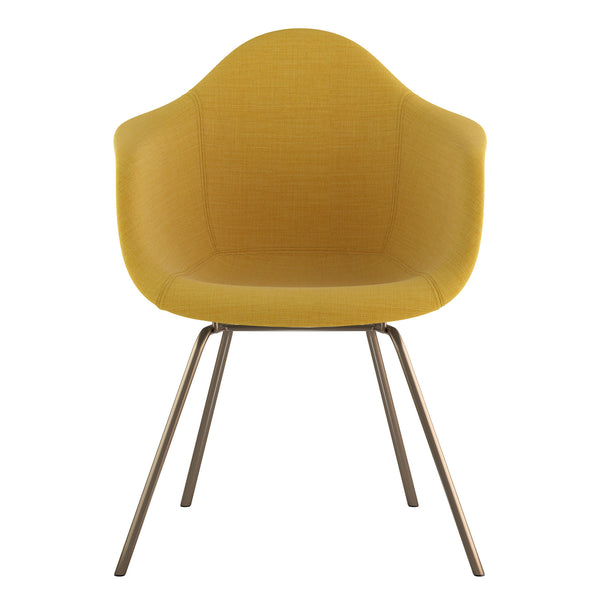Mid Century Classroom Arm Chair - Papaya YellowBrass