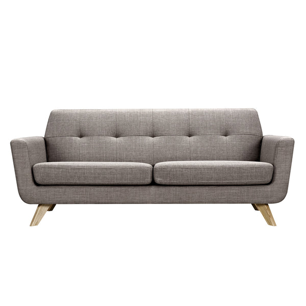 Aluminium Gray Dania Sofa - Natural