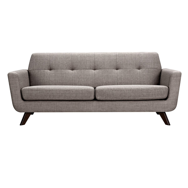 Aluminium Gray Dania Sofa - Walnut