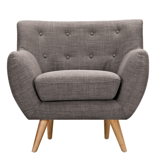 Aluminium Gray Ida Armchair - Natural