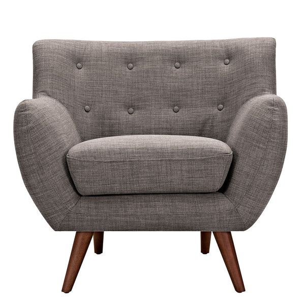 Aluminium Gray Ida Armchair - Walnut