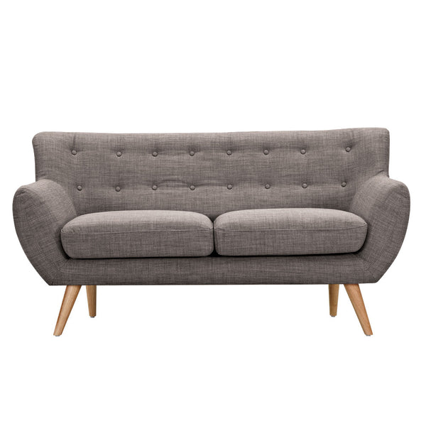 Aluminium Gray Ida Loveseat - Natural
