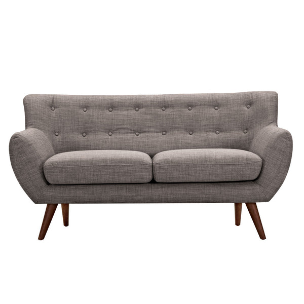 Aluminium Gray Ida Loveseat - Walnut