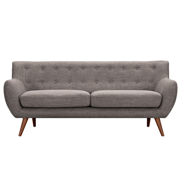Aluminium Gray Ida Sofa - Walnut