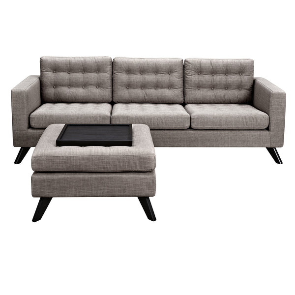 Aluminium Gray Mina Sofa Set- Black