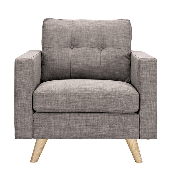 Aluminium Gray Uma Armchair - Natural