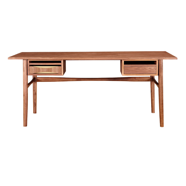 Hanna Desk- Metallic Brass