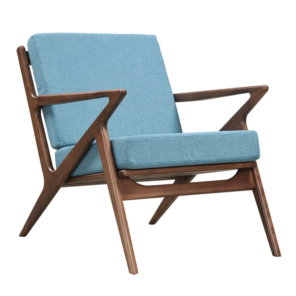 Dodger Blue Zain Chair - Walnut