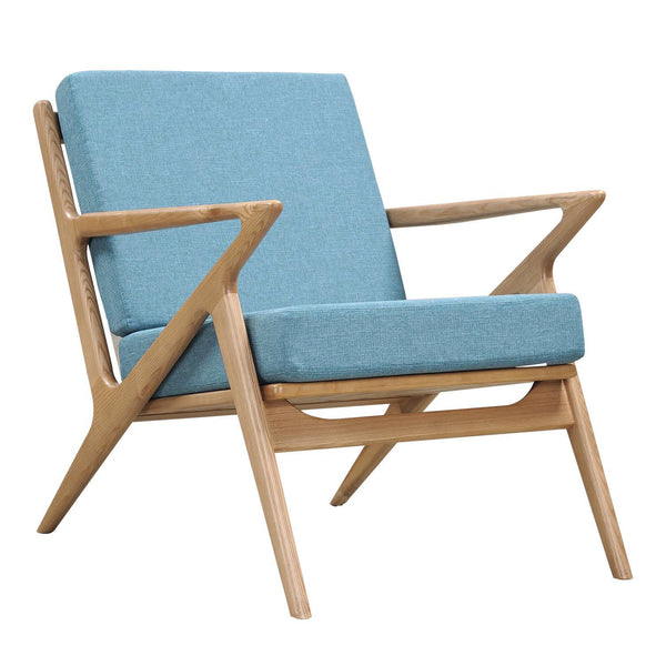 Dodger Blue Zain Chair - Natural
