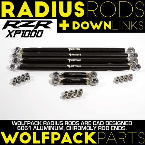 Aluminum Polaris Rzr Xp1000 Radius Rods + Down Links Package
