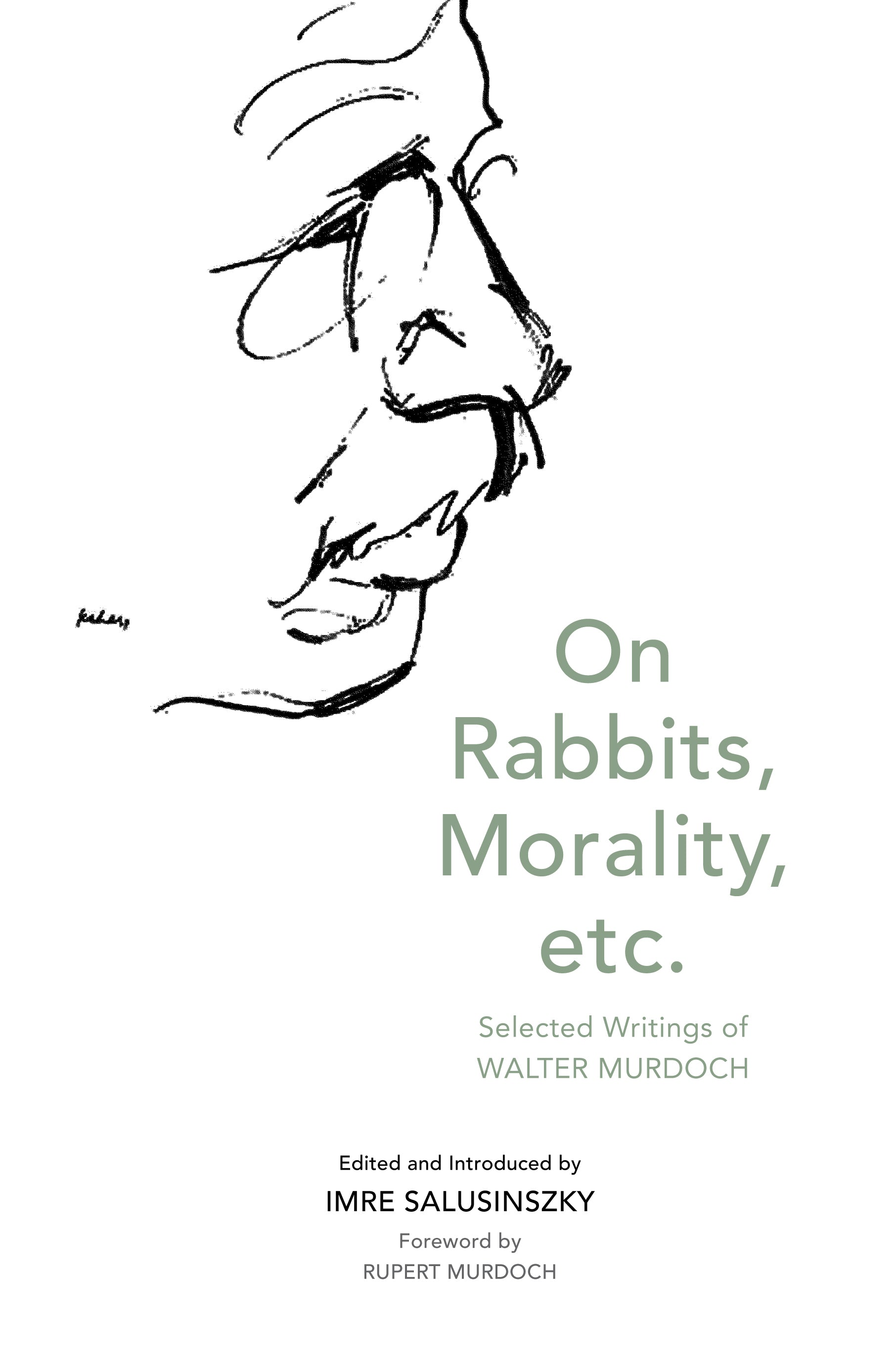 on rabbits morality etc selected writings of walter murdoch high res cover image