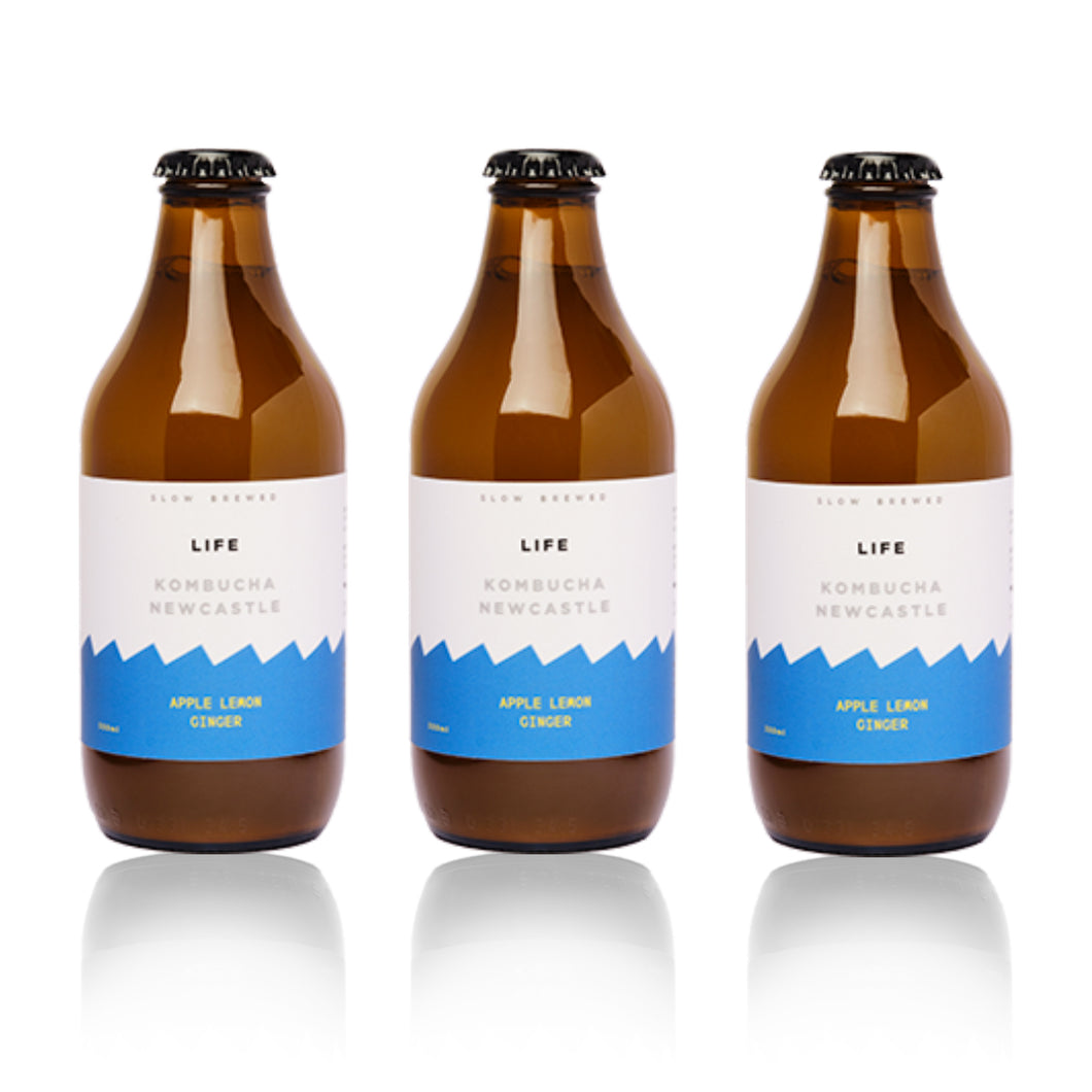 Apple Lemon Ginger Kombucha | 6 x 330ml