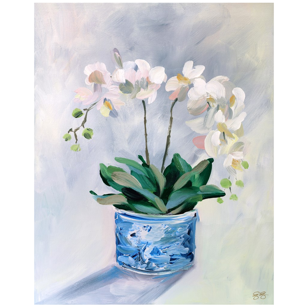 Orchid fine art print on canvas