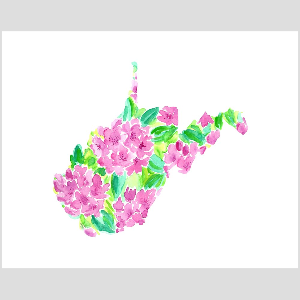 West Virginia Rhododendron fine art print