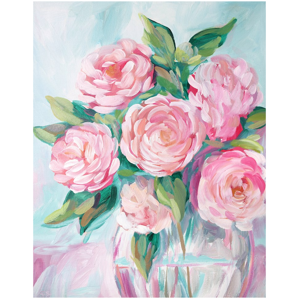 Camellia fine art print on canvas