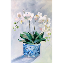Load image into Gallery viewer, Orchid fine art print on canvas
