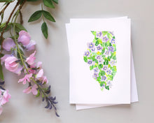 Load image into Gallery viewer, Illinois Violet note card set