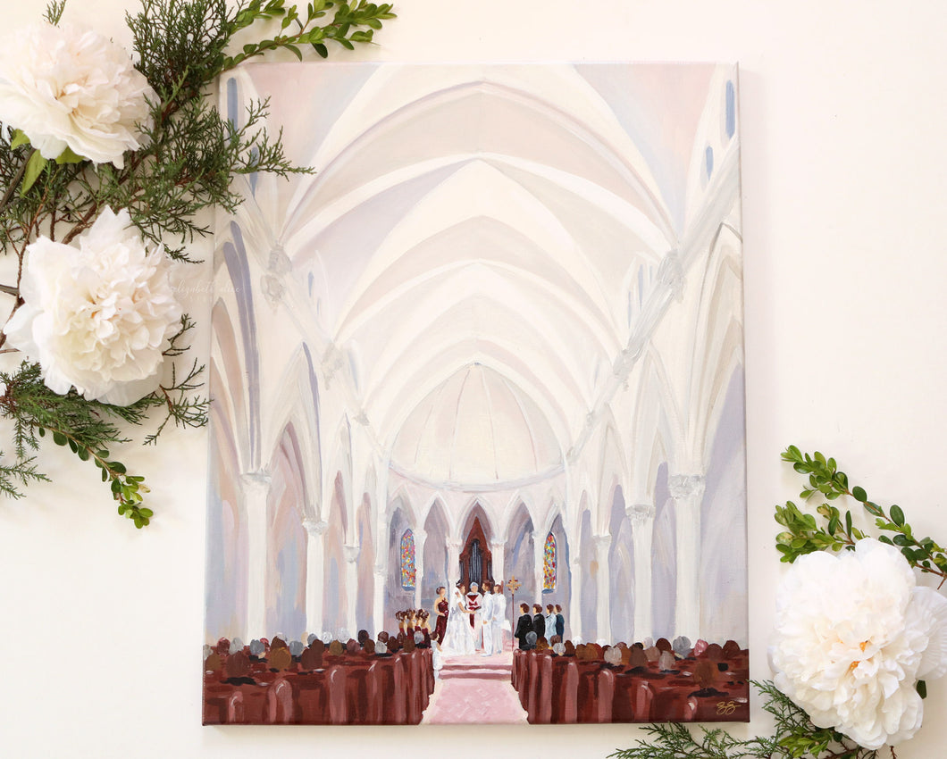 Custom wedding painting from your photo