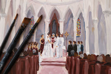 Load image into Gallery viewer, Custom wedding painting from your photo