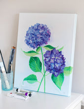 Load image into Gallery viewer, Two Hydrangeas - 16 x 20