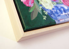 Load image into Gallery viewer, Pink and green chinoiserie floral - 11 x 14