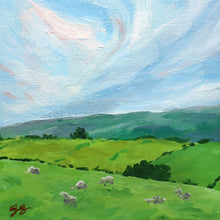 Load image into Gallery viewer, Pleasant Pastures with Sheep - 9 x 12
