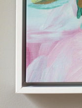 Load image into Gallery viewer, Pink and Blue Chinoiserie framed canvas wrap