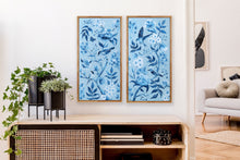 Load image into Gallery viewer, Blue Chinoiserie 1, a fine art print on canvas