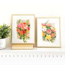 Load image into Gallery viewer, Fall florals - set of two 11 x 14