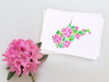 Load image into Gallery viewer, West Virginia Rhododendron note card set