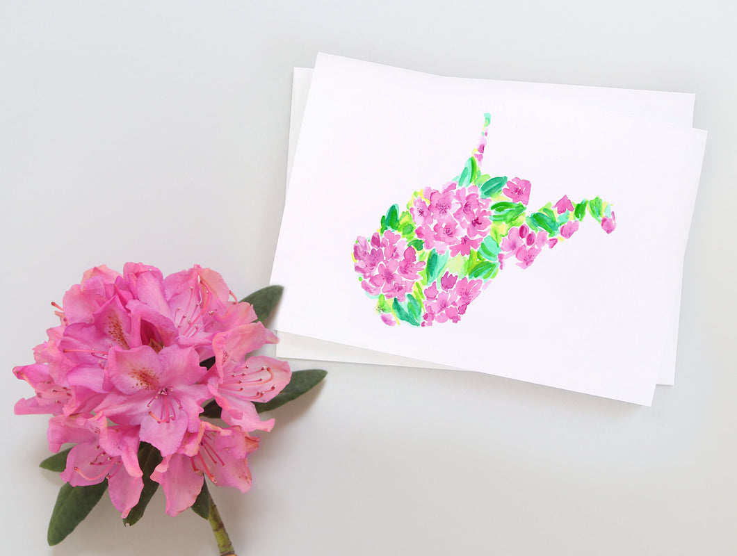 West Virginia Rhododendron note card set