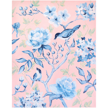 Load image into Gallery viewer, Pink and blue chinoiserie, a fine art print on canvas