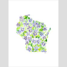 Load image into Gallery viewer, Wisconsin Violet fine art print
