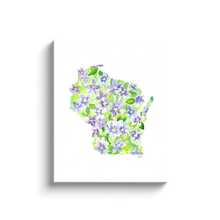 Load image into Gallery viewer, Wisconsin Violet canvas wrap