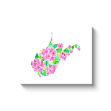 Load image into Gallery viewer, West Virginia Rhododendron canvas wrap