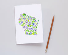 Load image into Gallery viewer, Wisconsin Violet note card set