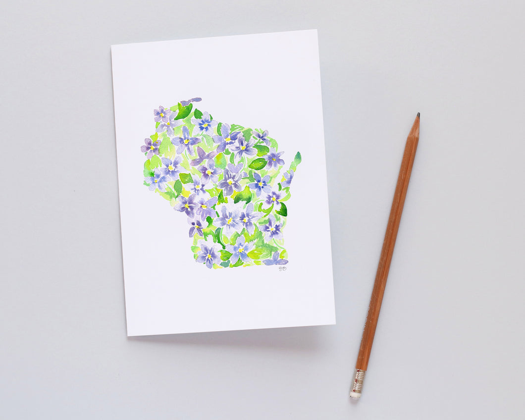 Wisconsin Violet note card set