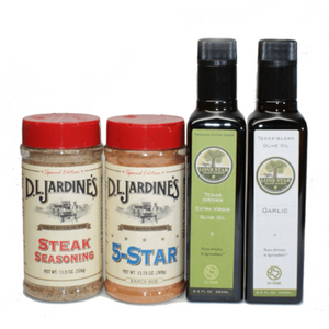 Texas Olive Oil and Grill Seasonings Gift Set