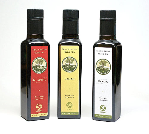 Texas Agrumato Olive Oil  (Jalapeno, Lemon, Garlic) Sampler Gift Set