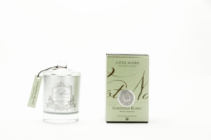 Cote Noire 185g Soy Blend Candle - Gardenia - Silver - GMS18528