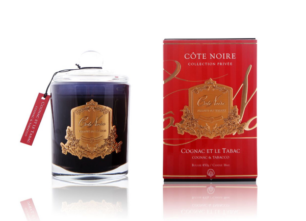 Cote Noire 450g Soy Blend Candle - Cognac & Tabacco - Gold - GML45024