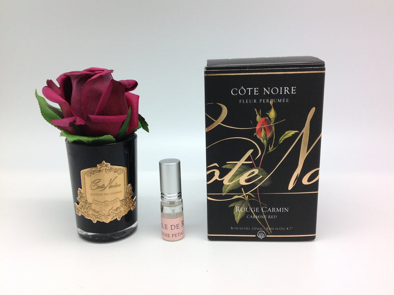 Cote Noire Perfumed Natural Touch Rose Bud - Black - Carmine Red - GMRB44